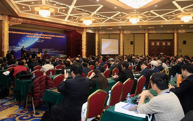 The International Science Forum of National Scientific Organizations on the Belt and Road Initiative [Photo courtesy of Chinese Academy of Sciences]