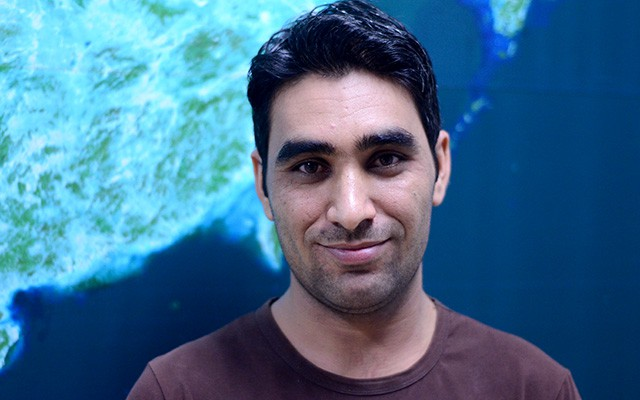 Muhammad Shakir of Pakistan at the Centre of Excellence on Space Science for Disaster Mitigation