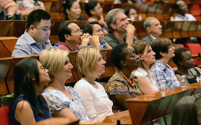 The audience at the 2015 Paolo Budinich Science Diplomacy Lecture