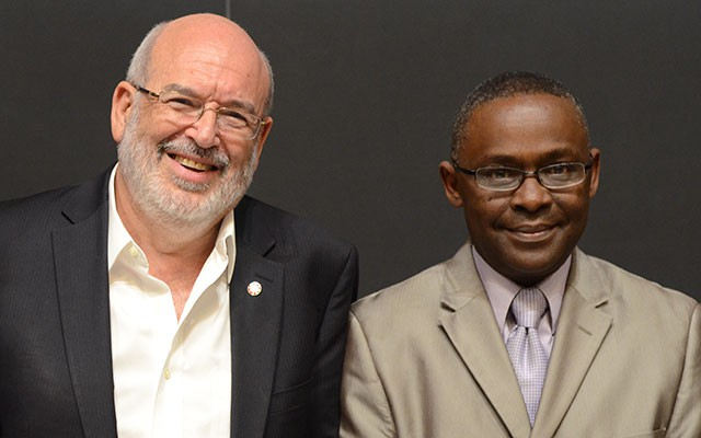 Sir Peter Gluckman (left) and TWAS Executive Director Romain Murenzi
