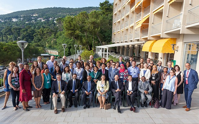 All participants and organizers of this year's Science Diplomacy Summer Course. (Photo: Demis Albertacci)