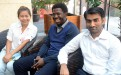 "(from left) Chidchon ""Pook"" Sararuk of Thailand, Ajala Adewole Adetoro of Nigeria, and Sajid Mahmood of Pakistan during a break in their work at the Centre of Excellence for Green Technology."