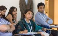 Shamsun Nahar Khan of Bangladesh listens during the course. (Photo: Demis Albertacci)